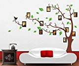 E-Love Passion Tree Green Leaves Follow Birds Fly Lively Photo Frame Removable Mural Wall Stickers Wall Decal for Home Decor