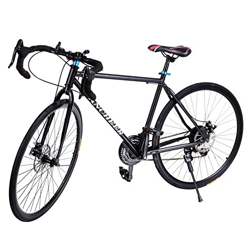 Lowest Prices! Gracelove® Fashion 700C Aluminum 21 Speed Road/Commuter Bike Racing Bicycle Black
