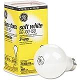 GE 97494 Soft White Three-Way Incandescent Bulb, 50/100/150 watts