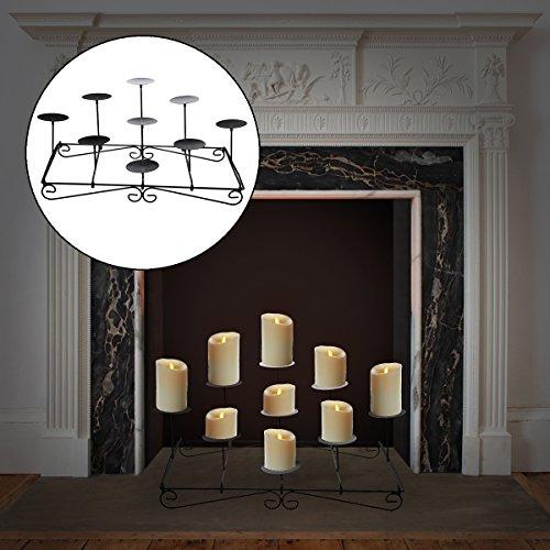 Pillar fireplace candle holder mantel floor tier