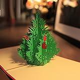 Starry 3D メッセージカード グリーティングカード ポップアップ カード クリスマス 大きなツリー ★カードを入れる封筒付★ (A)