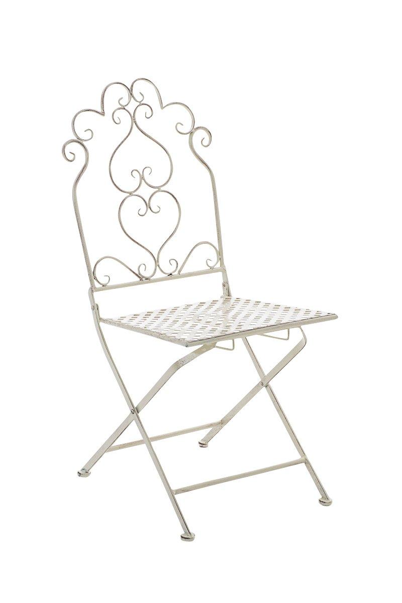 CLP nostalgischer Stuhl ANABEL aus Eisen (aus bis zu 6 Farben wählen) antik-creme