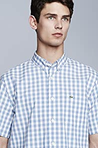 S/s Button Down Gingham Poplin Woven Shirt