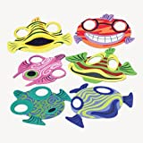 US Toy Fish Animal Foam Masks (12 Piece)