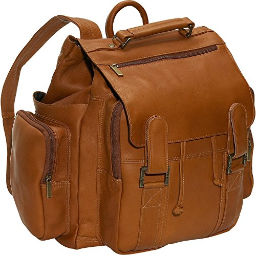 B001KVFMZG David King & Co. Top Handle Backpack, Tan, One Size