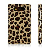 Brown Leopard Print Design Protective Leather Back Case For Nokia Lumia 820