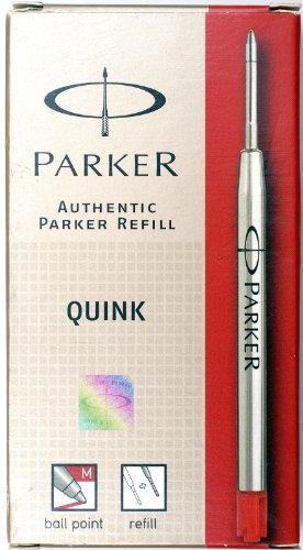 Parker - Quink: 12 Recharges Bille Couleur Rouge en Blister ou en Tube Taille: Moyenne