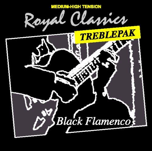 Royal Classics BF30T Black Flamenco Nylon Guitar