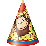 Unique Curious George Party Hats, 8ct
