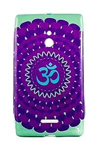 Purple Eyes Exclusive Printed TPU Silicon Back case Nokia Lumia XL Om Purple