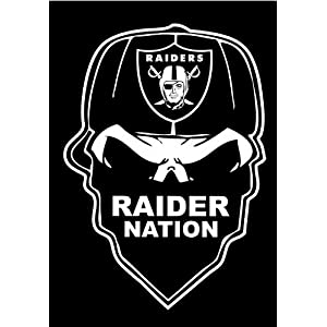 Football Skull  Cool Raiders Logo