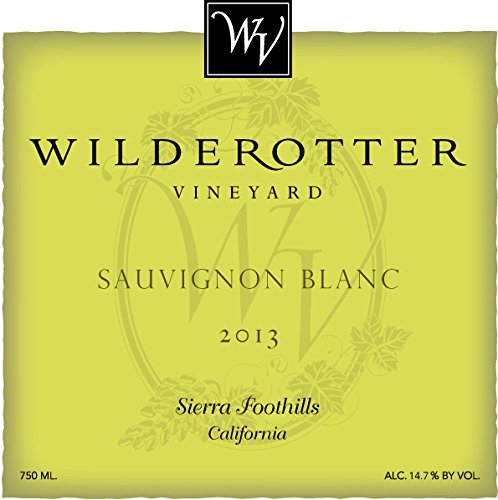 2013 Wilderotter Vineyard Sierra Foothills Sauvignon Blanc 750 Ml