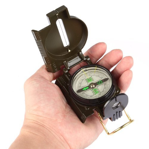 Lagute EK-1 Pocket Waterproof Military Multifunction Metal Compass (Camouflage)