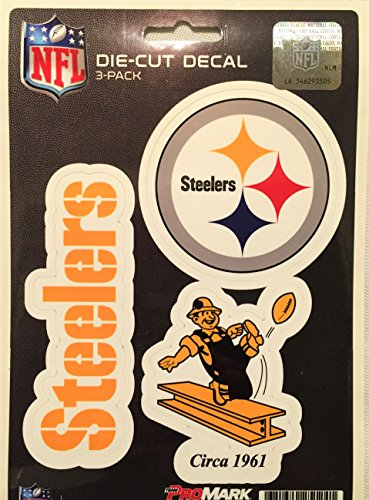 NFL Pittsburgh Steelers Team Decal - Pack of 3, Yellow, Standard (Steelers Merchandise Under $12 compare prices)