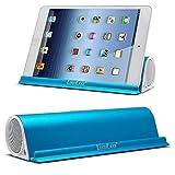 Lugulake Aluminum Portable Bluetooth 4.0 Speaker with Stand Dock, HIFI, 2x 3Watts, Enhanced Bass, 10 Hours Playtime - Blue