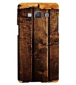 PrintVisa Dark Wooden Pattern 3D Hard Polycarbonate Designer Back Case Cover for Samsung Galaxy E5
