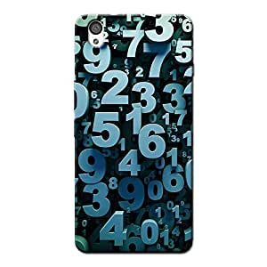 NUMBERS BACK COVER FOR ONE PLUS X