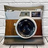 Fashion 3D Cameras Printed Throw Pillow Case Cushion Cover Sofa Car Office Decor
