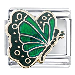 Pugster May Emerald Color Butterfly Birthstone Insect Animal Italian Charm