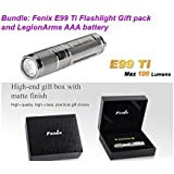 Fenix E99 Ti E05 Titanium Limited Edition 100 Lumen LED Keychain EDC Flashlight Holiday Gift Box with LegionArms AAA Battery