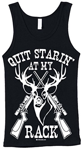 Blittzen Juniors Tank Quit Starin' At My Rack, M, Black (Country Clothes compare prices)