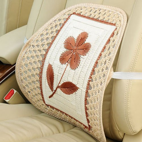 Sale!! Elegant Auto Car Cool Seat Back Cushion Handmade Flower Office Home Lumbar Pillow Support (Be...