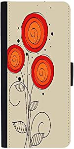 Snoogg Abstract Floral Background Designer Protective Phone Flip Case Cover For Vivo V1