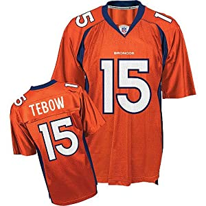 Denver Broncos 15 Tim Tebow Jersey Orange Size 48-56