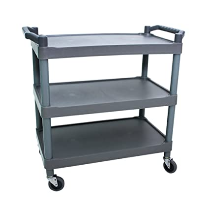 GFURNITURE Portable 4 wheeled SERVING CART for Carrying stuff such as foods,books,heavy material in Library,Hospital,Dining Room,A Manufacturing Plant and school
