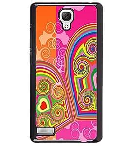 Printvisa Double Hearts Pattern Back Case Cover for Xiaomi Redmi Note::Xiaomi Redmi Note 4G