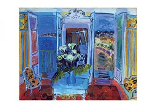 posters-raoul-dufy-poster-reproduction-interieur-a-la-fenetre-ouverte-100-x-70-cm
