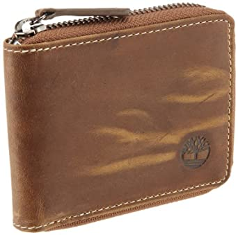 Timberland Men's Mt. Washington Zip Around Wallet, Tan, One Size