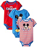 Disney Baby Boys' Mickey Mouse Bodysuits (Pack of 3)