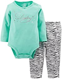 Carter\'s Baby Girls\' 2 Piece Cute & Comfy Set (Baby) - Darling - 12 Months