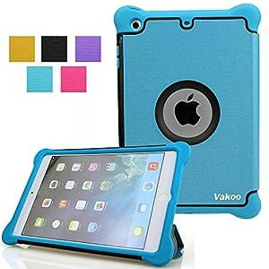iPad Mini Case, VAKOO iPad Mini 3 2 1 Folio Slim Fit Leather Smart Case Cover with Auto Sleep Wake Feature - Blue