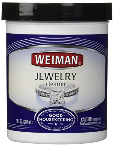 Weiman Jewelry Cleaner Liquid - Restores Shine and Brilliance to Gold, Diamond, Platinum Jewelry & Precious Stones - 7 fl. oz. (Platinum Cleaner compare prices)