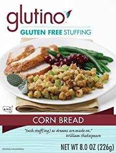 Glutino, Gluten Free, Cornbread Stuffing, 8oz Box (Pack of 2)