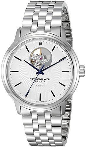 Raymond-Weil-Mens-Maestro-Swiss-Automatic-Stainless-Steel-Casual-Watch-ColorSilver-Toned-Model-2227-ST-65001