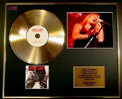 Motley Crue/cd Gold Disc/record & Photo Display/ltd. Edition/coa/too Fast For...