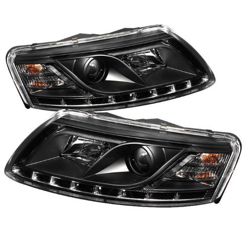 Spyder Non-Hid Non Quattro With Afs Drl Led Black Projector Headlights Audi A6 05-07