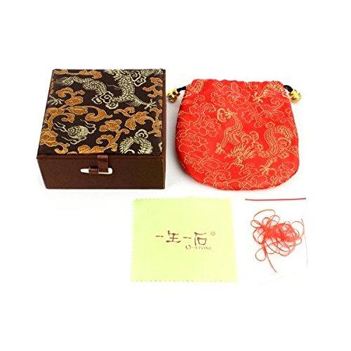 Caja y bolsa de la pulsera amuleto del Virgo