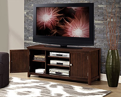 Simpli Home Acadian Tv Media Stand For Tvs Up To 60 Rich Tobacco