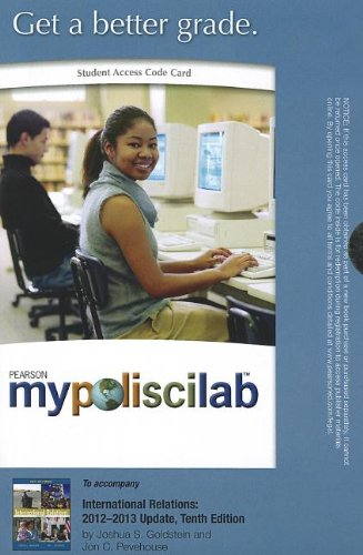 MyPoliSciLab without Pearson eText -- Standalone Access Card -- for International Relations: 2012-2013 Update (10th Edit