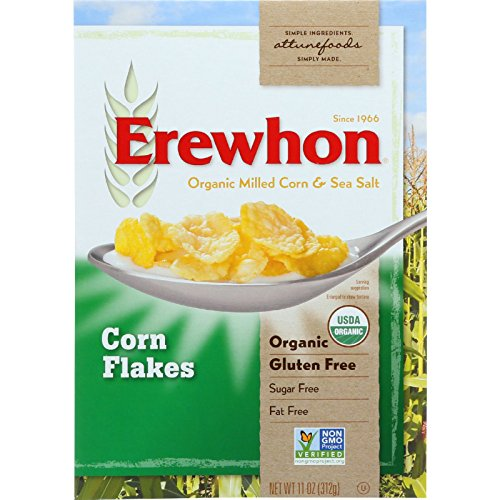 Erewhon Cereal - Organic - Corn Flakes - 11 oz - case of 12 - 95%+ Organic - Gluten Free - - - Wheat Free- (Erewhon Gluten Free Corn Flakes compare prices)