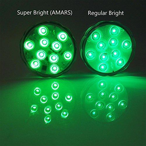 amars 10 tauchbare led lichter mit fernbedienung. Black Bedroom Furniture Sets. Home Design Ideas