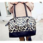 MDR Store@ Fashion Women's Faux Leather Handbag PU Totes Hobo Leopard Hand Bag