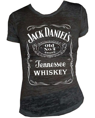 Jack Daniels Women's Daniel's Burnout Short Sleeve Tee Black Large (Jack Daniels Apparel For Women compare prices)