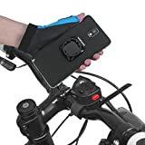 Tigra® MountCase U-TAG Universal Mounting Adapter and Smartphone Bicycle / Motorcycle Bike Mount Kit - Fits Every Smartphone, Mounts to Every Bike, adaptable to Tablet PCs