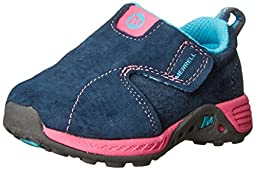 Merrell Jungle Moc Sport A/C Sneaker (Toddler),Navy/Pink,5.5 W US Toddler