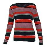 Tommy Hilfiger Women's Striped Scoop Neck Sweater